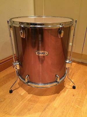 """QR Series Mapex Floor Tom For Drum Kit Great Additional Drum 16"""" X 16"""" Grey"""