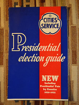 1936 Cities Service Presidential Election Guide Fdr Landon 32 Pages No Fake News
