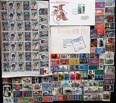 Great Britain Qeii Collection Of Stamps And Covers