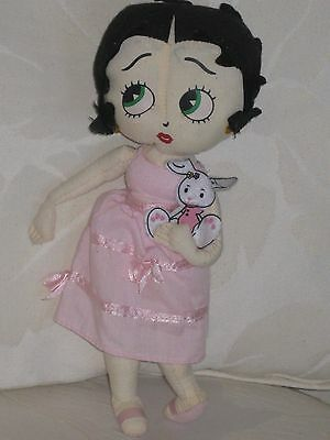 2005 Betty Boop--Easter Bunny Betty Collection--KELLYTOY--10 INCHES TALL-Super
