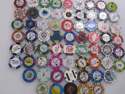66 Casino Gaming Poker Chip Lot INVENTORY CLEARANCE Las Vegas $1 New & Used