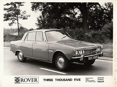 Rover Three Thousand Five Hundred, P6 Series 1, Model, Period Photograph.
