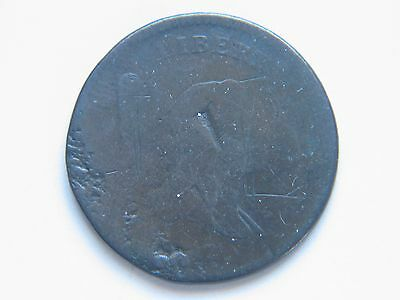 1797 1/2C C-1 1 Above 1 BN Liberty Cap Half Cent Lower Grade Damaged Hole Filler