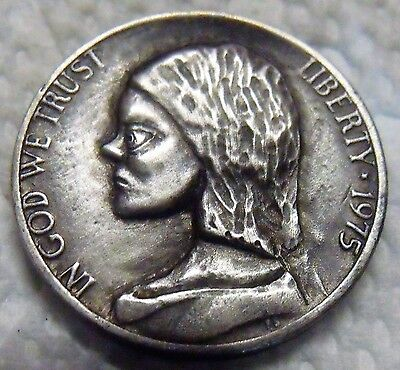 Hobo nickel coin   Bride of Chuckie      hand carved