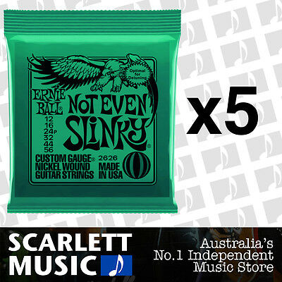 5x Ernie Ball Not Even Slinky 12-56 Electric Guitar Strings *SET OF 5 PACKS*