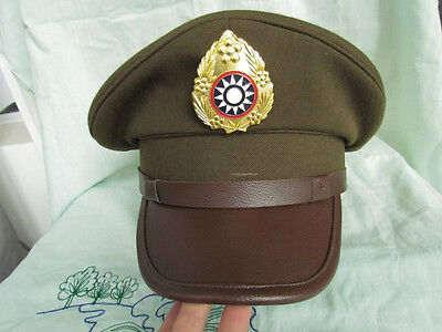 WWII Chinese KMT Military Officer Army Cap DO BATTLE Dsmh HAT *59 Size