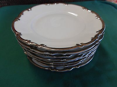 RARE Beautiful Vintage HUTSCHENREUTHER Selb Bavaria Germany Set 8 BREAD Plates