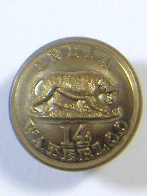 14th (PWO West Yorkshire) Foot original Officers Medium Victorian Button.