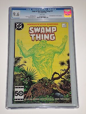 Saga of the Swamp Thing 37 CGC Graded 9.6 NM+ 1st Appearance of Constantine