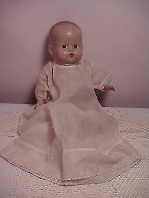 antique all strung composition WEE DIAPER BABY unmarked But Cute* old dress