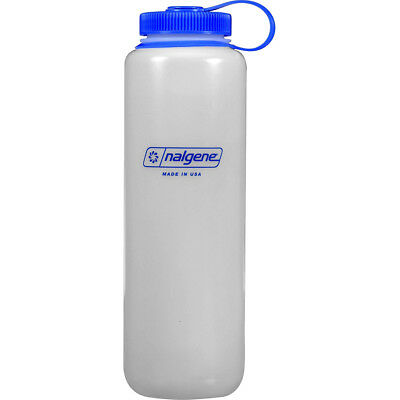 Nalgene Ultralite Wide Mouth Round Loop Top Water Bottle - 48 oz. - Clear/Blue