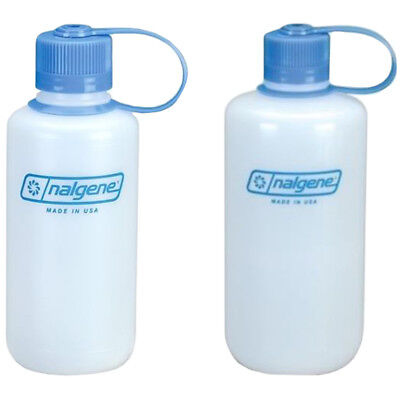 Nalgene HDPE Plastic Ultralight Narrow Mouth Water Bottle - Clear