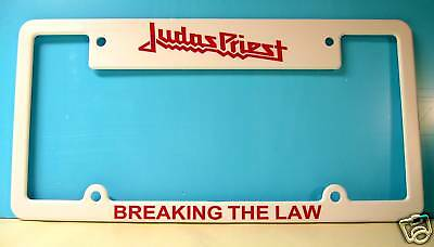 Judas Priest License Plate Frame Breaking The Law !!!