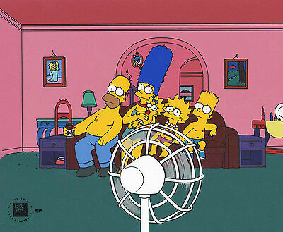"""SIMPSONS - """"Heat Wave"""" HAND PAINTED LIMITED EDITION CEL - FOX seal & COA"""