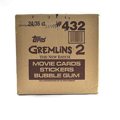 1990 Topps Gremlins 2 The New Batch Wax Box EMPTY Case #432 24/36 ct. 671