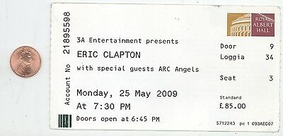 ERIC CLAPTON 5/25/09 London England Royal Albert Hall BIG Concert Ticket Stub!