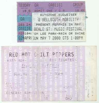 RED HOT CHILI PEPPERS FOO FIGHTERS 5/7/00 Memphis In May Ticket Stub s!