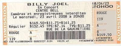 Rare BILLY JOEL 4/23/08 Montreal Canada Concert Ticket!