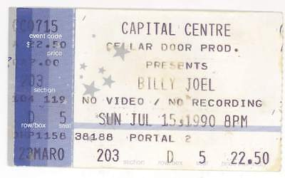 RARE Billy Joel 7/15/90 Washington DC Capital Centre Concert Ticket Stub!