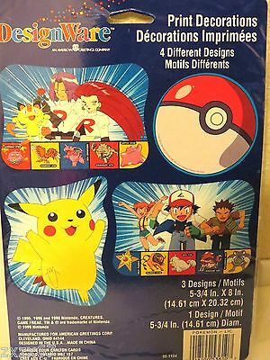 New 4 Pokemon Pikachu Print Decorations Party Supplies