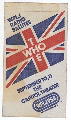 THE WHO 9/10-11/79 Passaic NJ Capitol Theater Commemorative Backstage Pass!