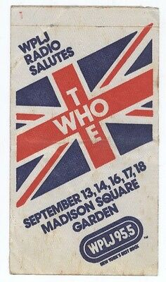 THE WHO Sept 1979 NYC Madison Square Garden Commemorative Backstage Pass! MSG