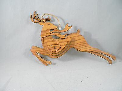 Wooden Reindeer Christmas Tree Ornament new holiday