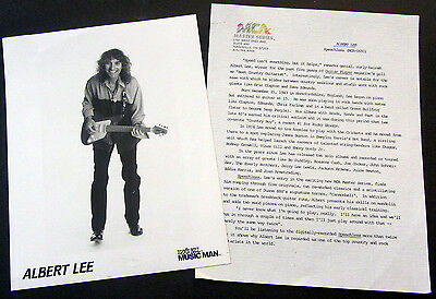 RARE Albert Lee Speechless Press Kit! 1970s Eric Clapton Band Guitarist J35