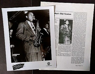 RARE Promotional Press Kit for Charlie Parker Dial Sessions! Photo O33