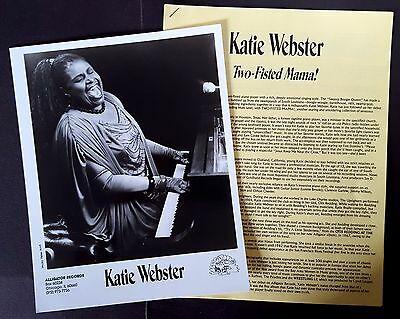 RARE Katie Webster Press Kit for Two-Fisted Mama!! Photo L88