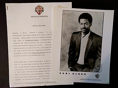 RARE Earl Klugh Press Kit for Whispers and Promises! Photo N91