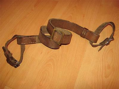 WWI LEATHER SLING for MOSIN NAGANT 91/30 & M44 NATURAL WWII !! EARLY RARE