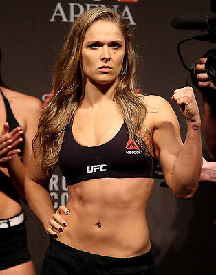 Ronda Rousey Rowdy unsigned 8x10 MMA UFC action photo