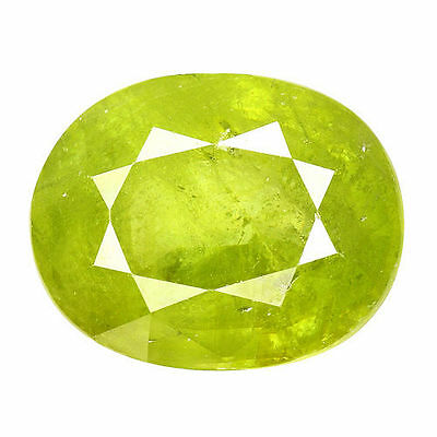 3.745Cts Attractive Luster Green Natural Sphene Oval Loose Gemstones