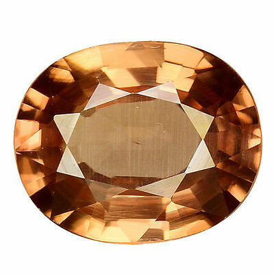 2.005Cts Glorious Luster Brown Natural Zircon Oval Loose Gemstones