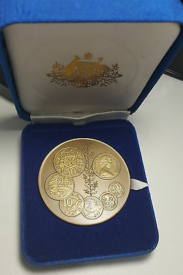 Royal Australian Mint Medal c1970-1984 C. R/7  Decimal Coins in Case of Issue
