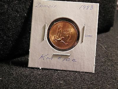 ZAMBIA:   1983      2 NGWEE    COIN     (UNC.)    (#3906)  KM # 10a