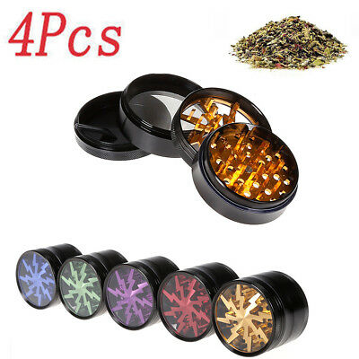 Tobacco Herb Spice Grinder 4 Piece Herbal Leaf Alloy Smoke Chromium Crusher