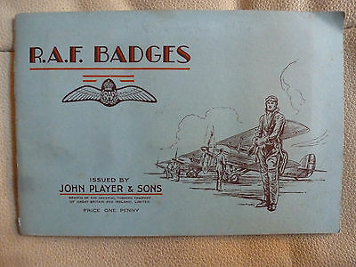A Full Set Of Players Cigarette Cards In Album - Raf Badges