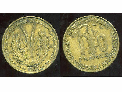 FRENCH WEST AFRICA - AFRIQUE OCCIDENTALE FRANCAISE 10 francs 1957 ( ca )