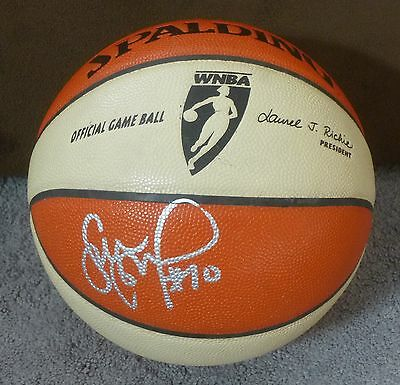 Sue Bird Signed 2012 Seattle Storm Game Used Team Issued Wnba Basketball