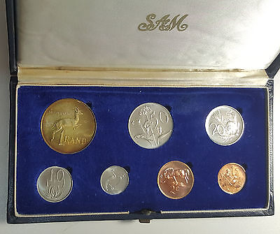 1967 South Africa Proof Set SAM Case - Toned Silver Rand