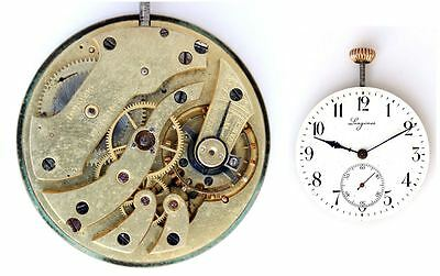 LONGINES vintage original pocket watch movement working great condition  (4801)