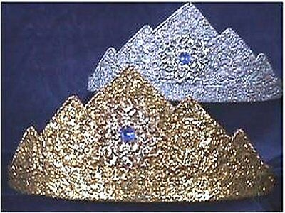 Costumes! Crown! Adjustable Etruscan Silver Plated All Metal Crown