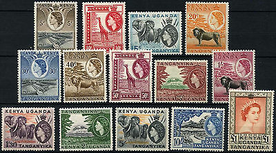 Kenya, Uganda & Tanganyika 1954-9 SG#167-180 QEII Definitives MH Set #D41002