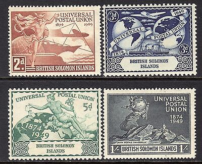 British Solomon Islands 1949 UPU Set SG77-80 LM/Mint