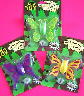 Bulk Lot x 5 Packs BUTTERFLY Window Creepers Kids Party Favors Novelty Toys NEW