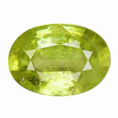 1.525Cts Gorgeous Amazing Green Natural Sphene Oval Loose Gemstones