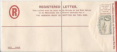 Barbados 1950s 12c Flying Fish H2 registration envelope unused