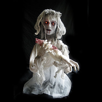Animated Undead Ghost Bride Girl Haunted House Halloween Party Decoration